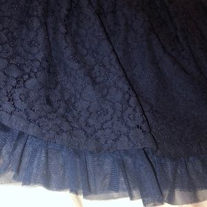 Girls navy blue adorable skirt